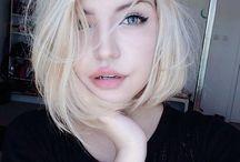 Blond fashion hair