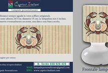 Segni Zodiacali / Lampade da Tavolo in vetro soffiato a bocca con l'immagine desiderata di un segno zodiacale. E' possibile inviare la foto desiderata o scegliere tra quelle proposte. www.capricciitaliani.com
