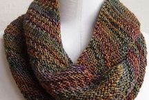Knitted scarf cowl