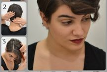 growing the short hair out / by Christina Jordan