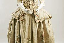 1780 платье с баской