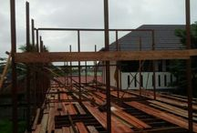 borneo school wood building in progress