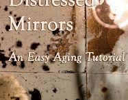 Distressed mirrors