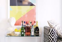 Interior inspiration   Art + Drinks Trolley