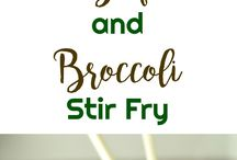 Beef and brocolli stirfry