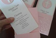 First communion Scrapbook cards & invitations / First communion Scrapbook cards # invitations # DIY