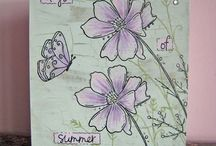 Paperartsy Kay  Carley & Kim Dell ow stamps