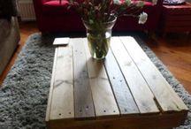 Interieur / Pallet, sloophout en stijgerhouten meubelen