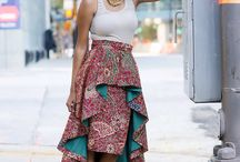 Dresses with African prints