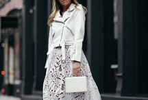 Skirts - white lace