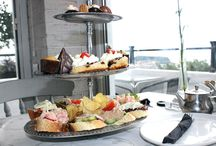 FOOD// AFTERNOON TEA / Who doesn't love finger sandwiches of so many varieties and cakes!  Visit www.carolineelgeywhite.com