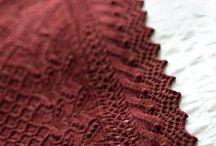 Knitting : shawl, scarf ...