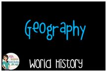 World History:  Geography / Educational resources covering geography in world history.