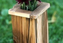 wooden containers vases boxes