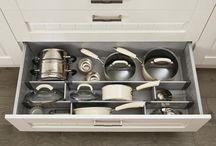 Oppbevaring kjøkkenskuffer