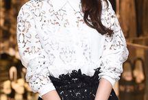 Im Yoona wearing white