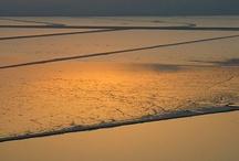 por do sol no mar morto