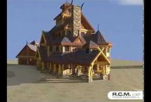3D Designs -  Log and Timber Structures / A selection of our log and timber design videos below, that we have created here at R.C.M. Cad Design Drafting. We are able to create these videos in-house, to give our clients an idea of how their stunning new house will look, starting with a 360 degree tour of the outside and also if required a walk-through of the interior.