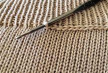 wykończenia swetrów