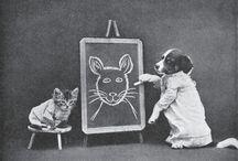 Vintage kitties & other animals