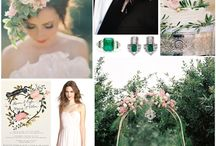 Greenery and Rose wedding