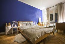 Nasza sypialnia / blue wall