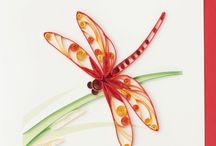 Quilling dragonfly