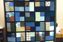 Memory Quilts / Dads old clothes