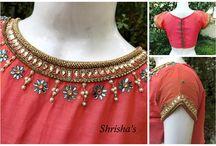 Varamahalakshmi blouse neck design selected
