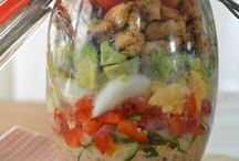 lunch in a mason jar