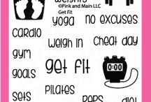 Get Fit / Clear stamp from pinkandmain.com