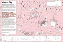 Visuels / Infographie/Communication visuelle de projets paysagers, urbains et architecturaux
