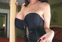 Brunette Milf Stocking & Corset