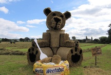 Wheat Art / Weetabix is committed to supporting British farmers and farming, with all the wheat used in Weetabix sourced in Britain, with 90% coming from farms within a fifty mile radius of the factory in Burton Latimer, Northamptonshire. Weetabix is offering farmers the chance to have some fun and use their artistic flair to win money by designing a sculpture using bales from their farms.