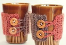 COFFEE MUG COZIES / COZIES WITH BOTTOMS AND JUST SLEEVES / by Melody Swift
