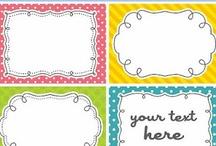 Clip Art/Labels/Ideas for Decor/Organizational