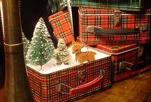 Christmas displays red