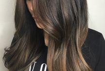 Hair color long