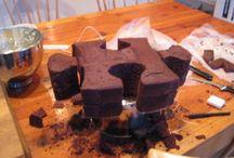 Puzzle piece cake