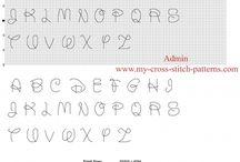 Abecedario patrones punto de cruz gratis / Abecedario patrones punto de cruz gratis, graficos, motivos, esquemas.