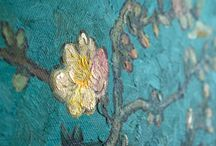 Van Gogh Details / Details of hand-painted Van Gogh reproductions in oil on canvas