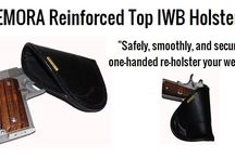 Reinforced Top Holster / Allows for a smooth and secure one handed reholstering.