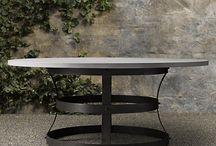 Circular outdoor tables