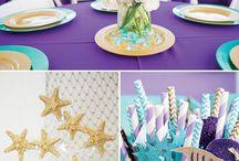blue purple decor