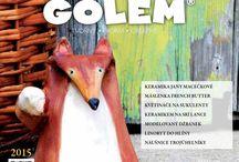 GOLEM 02/2015 / Druhé číslo časopisu o keramickém tvoření pro každého ...více na www.tvorivyamos.cz