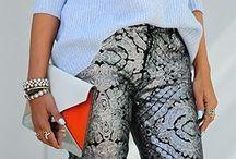 Printed pants outfits