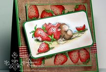 Craft: Cards-Strawberries