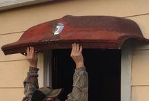 Car bonnet awnings