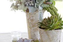 Natural wedding decoration