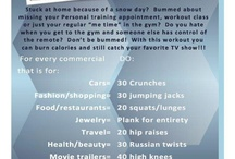 I Workout / well sometimes. all of these exercises are easy enough to do at all.
